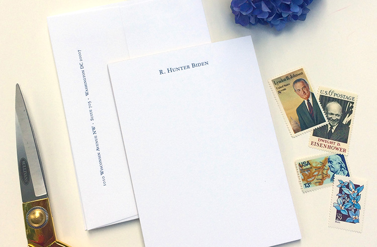 Elegant and Simple Personalized Letterpress Note Cards