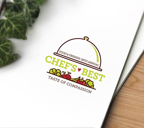 Food & Friends' Chef's Best 2016 Logo — Corporate Event Branding