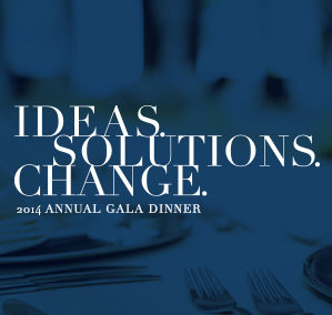 Ideas. Solutions. Change. Corporate Gala Branding