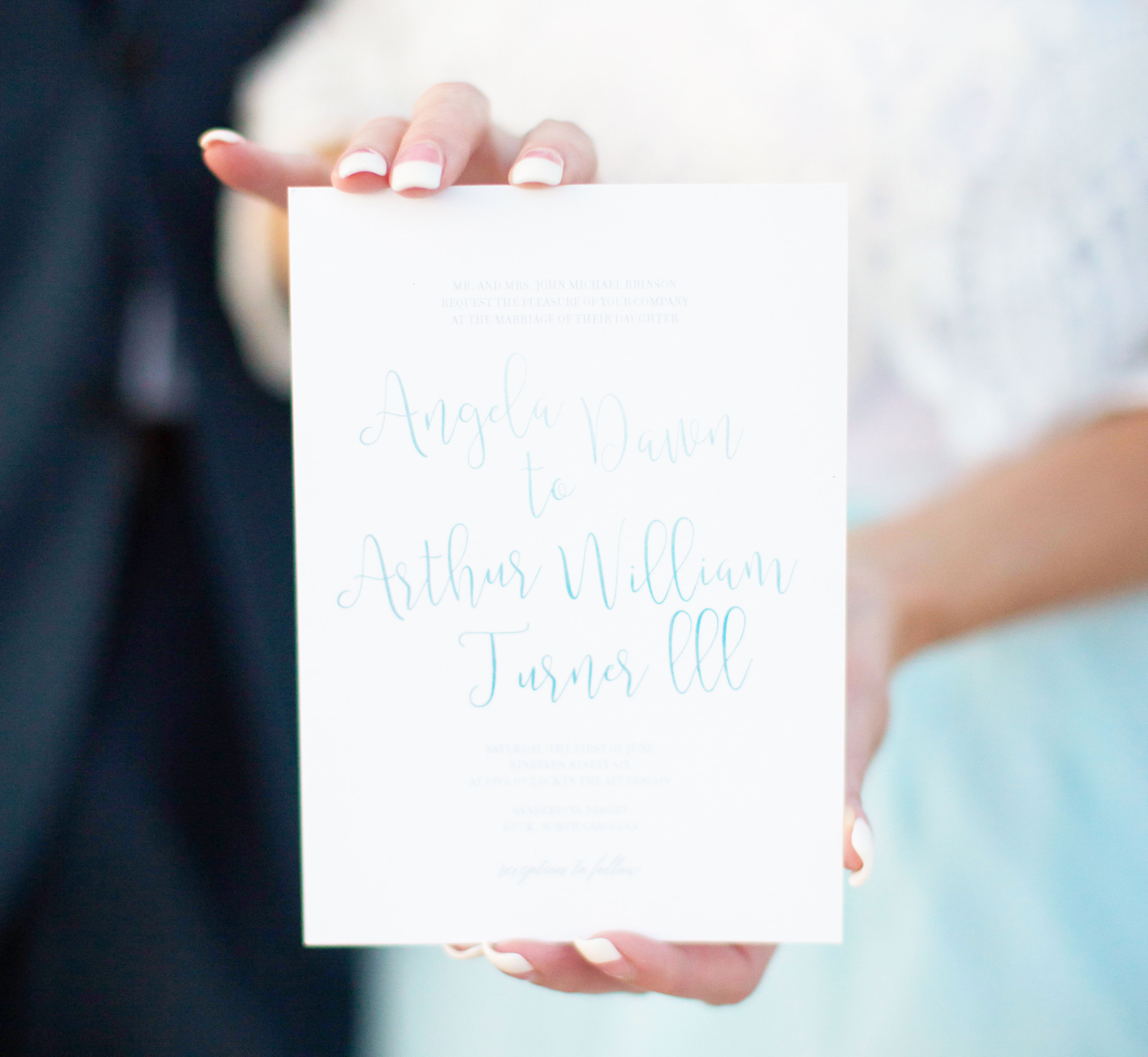 Beach Blue Watercolor Wedding Styled Shoot