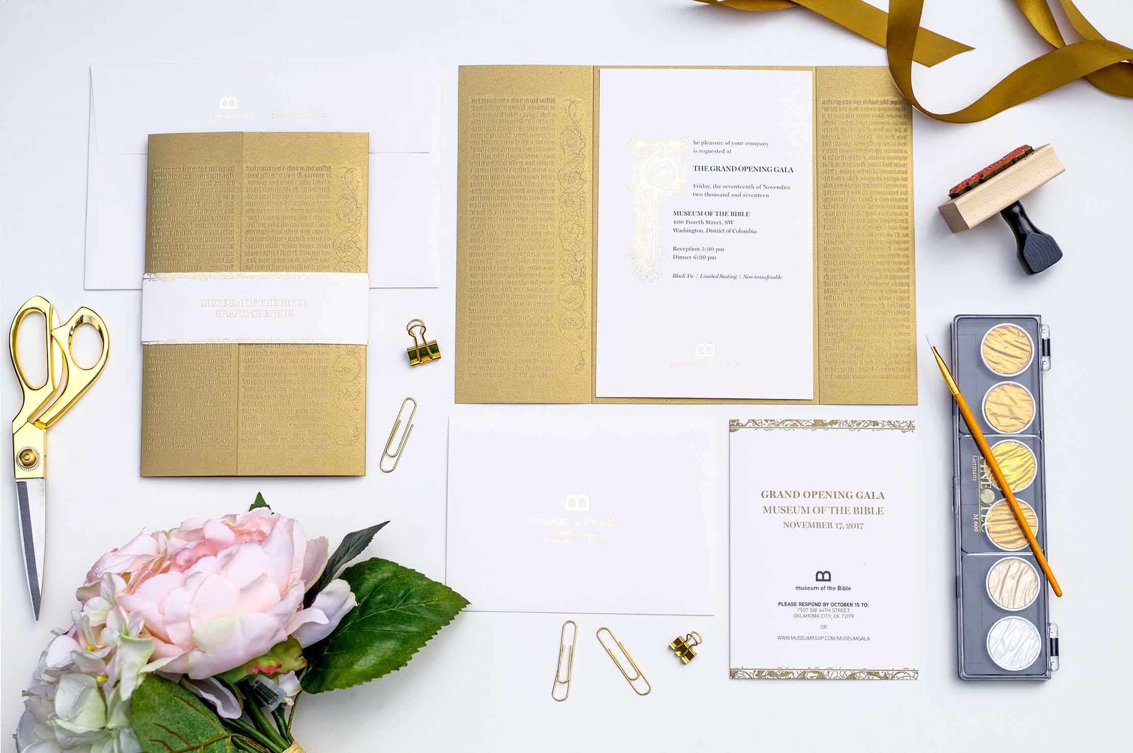 luxury invitations gala invitation event branding annapolis, md washington, dc graphic design