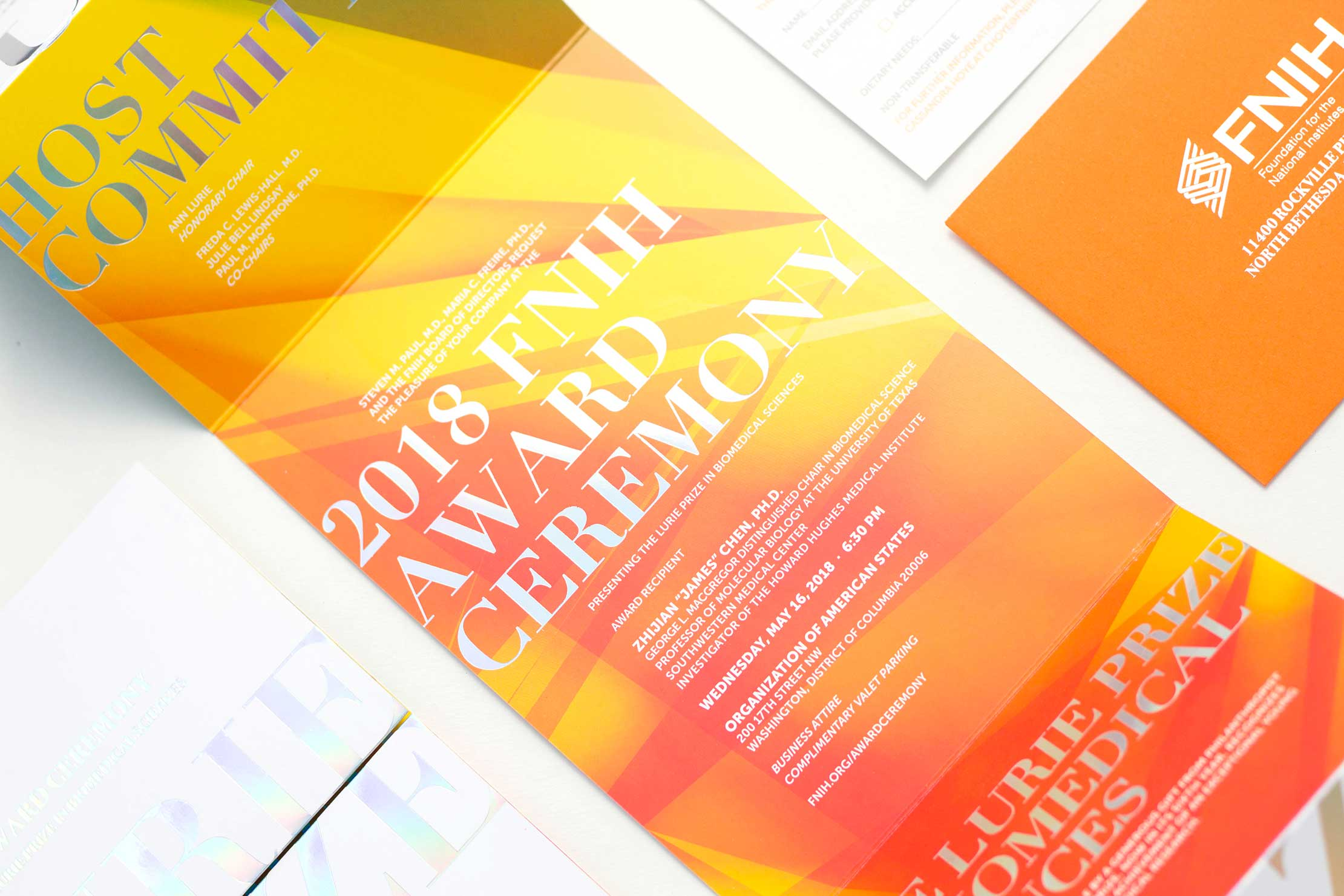 Unique Event Branding—FNIH's 2018 Lurie Prize Award Ceremony