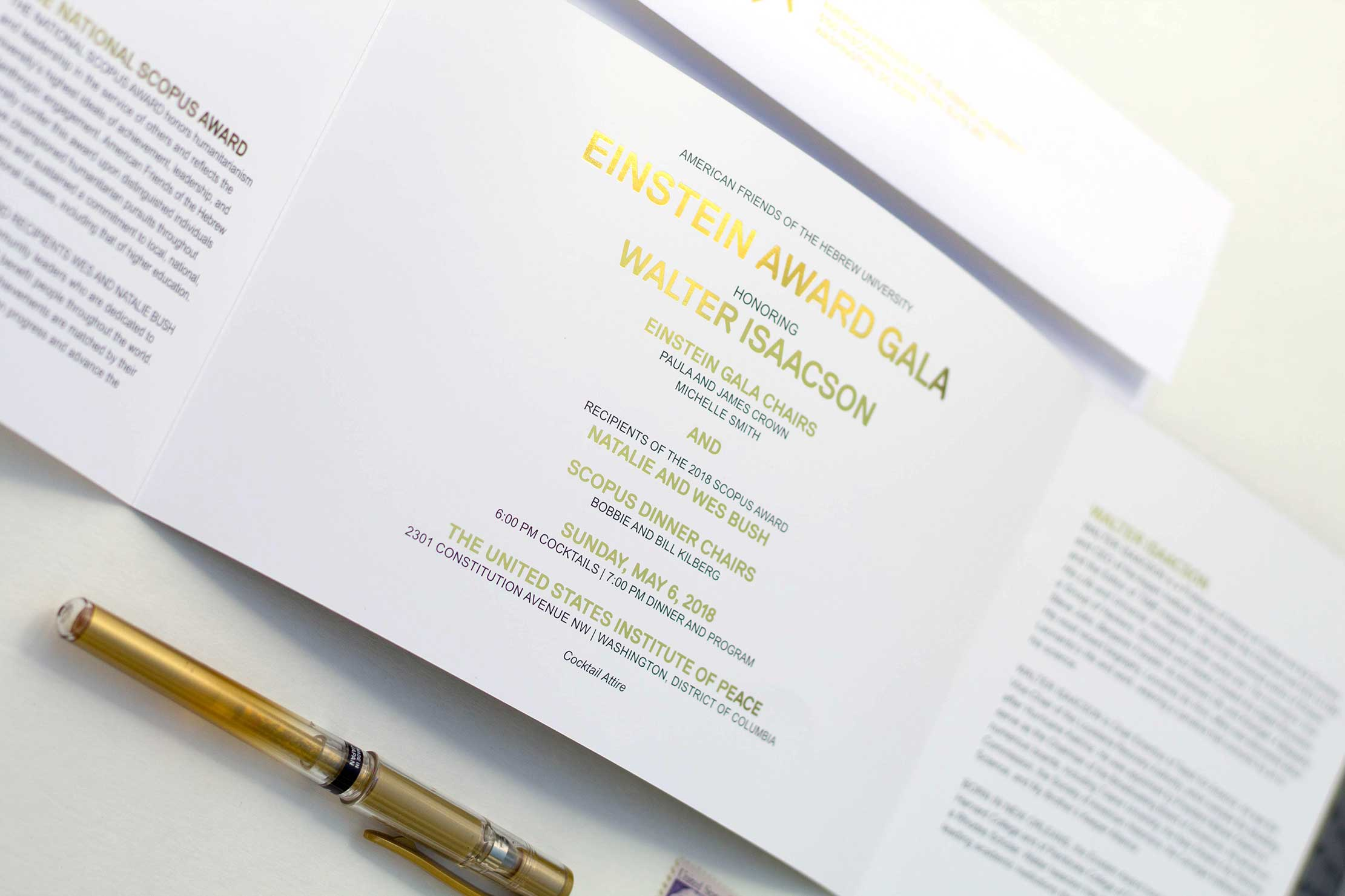Washington DC gala invitation