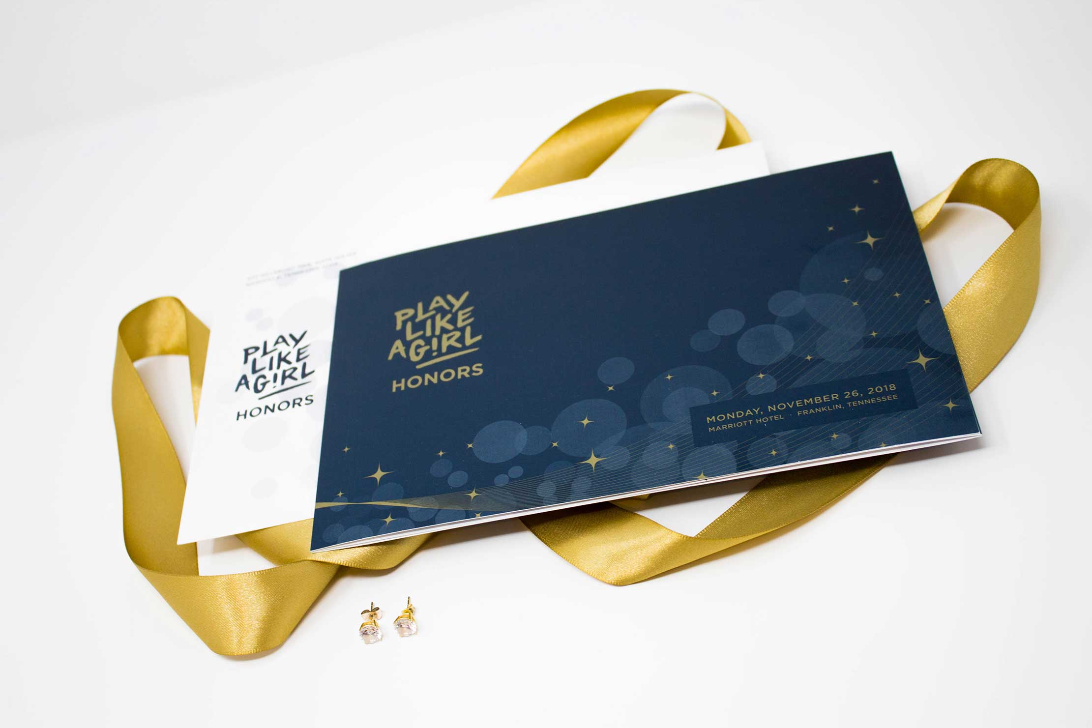 Play Like A Girl Honors Luxury Invitation and Branding