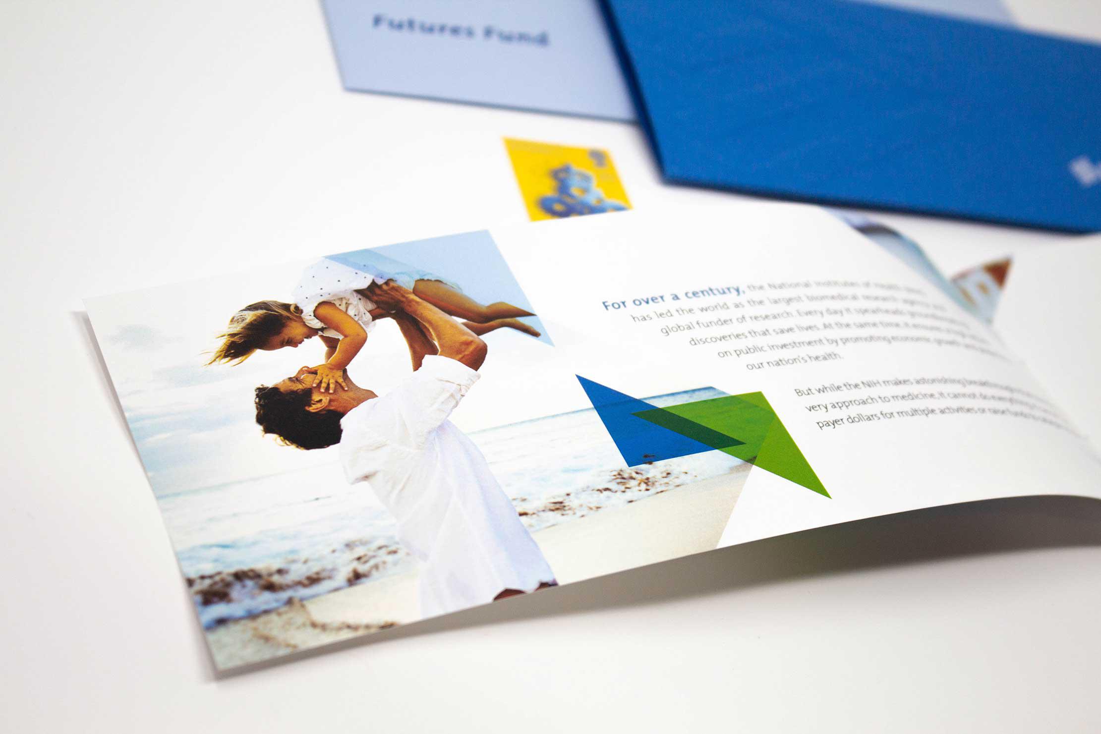embossing example, foil stamping, graphic design, branding, brochure design, washington dc