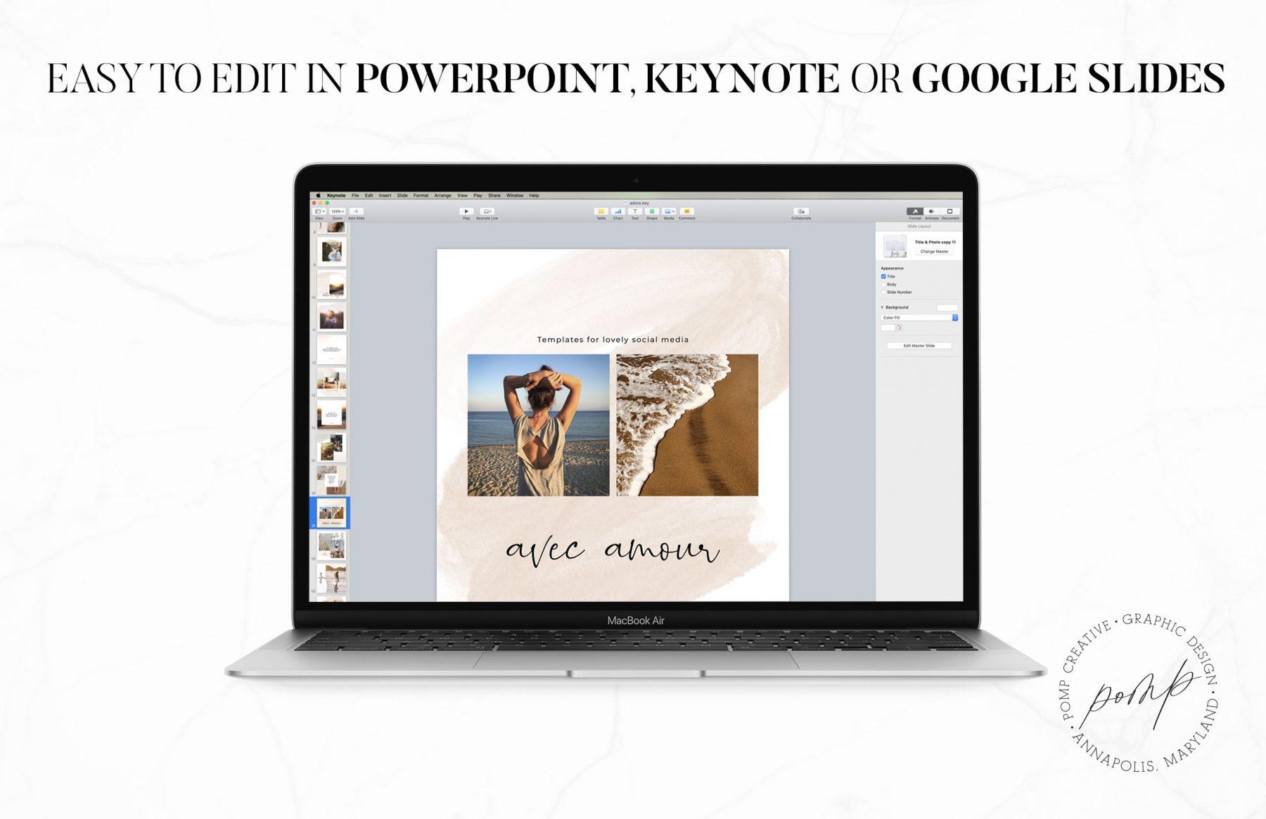 Social Media Templates; Instagram; Ladypreneur; Entrepreneur; Powerpoint Templates; Instagram Templates; Pinterest; Keynote Templates